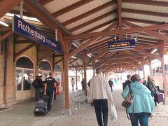ローテンブルクに到着! 木造の小さな駅です。