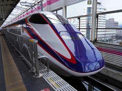 白石蔵王駅から乗った列車を、次の福島駅で下車。 14分の待ち合わせで、11:22発の山形新幹線『つばさ177号』に乗り換え、新庄駅へと向かう。