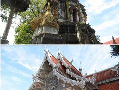 <チェンマイ> Wat Muen San ワット・ムーンサーン。銀のお寺からほど近く、こちらも銀細工職人の街にあるだけあります。上は仏塔、下はスッタジットー美術館。本堂には入れず。他に日本軍の戦没者資料館と慰霊碑あり。第二次世界大戦中、インパール作戦で負傷した日本軍兵士の野戦病院だったことから。資料館は、在チェンマイの日本人も維持に貢献しているようですが、受付はタイ人の方がされていました。