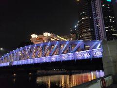 フラートンロードのアンダーソン橋もライトアップされており綺麗です。