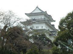 新幹線の上を通る橋を渡ると小田原城が見えてきました。