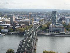 正面には、ライン川とホーエンツォレルン橋・・・