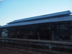 坂本駅ですね。ここで停車。