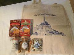 ツアーで斡旋してくれたお土産  ゲランドの塩2種(フルール・ド・セル、 イタリアンスパイスソフト) キャラメル味のキャンディ ラ・メール・プラールのサブレ2種 (チョコチップ、ナチュラルバター) トートバッグで20ユーロ