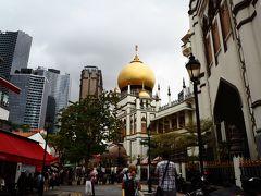 スルタンモスクが見えてきました。 ※ちなみにガイドブックはスルタン、フォートラはサルタン。まぁ発音の微妙な違いかしら。。。笑