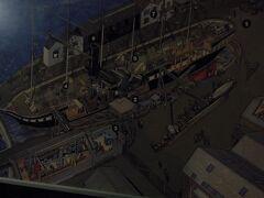 グレート・ブリテン号は1843年に建造された世界初の鋼鉄製の外洋航行船で、1000馬力の蒸気タービンによるスクリュープロペラを備えていました。当時、アメリカまでの一等客室の料金は一般労働者賃金の数か月分だったそうです。