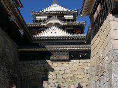 松山城天守閣。