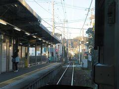 由比ケ浜駅。7時39分着。