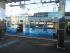 稲村ケ崎駅7時47分着。鎌倉からここまではわずか11分。 このまま藤沢まで乗り通します。  (つづく)