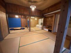 玄関から入ると3間続きの和室 とっても広いです 微妙に床が斜め