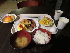 ホテルで朝食を食べ一日の鋭気を養う。
