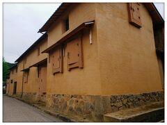 出石酒造 赤い土壁の酒蔵 270年前の建物らしい(°0°  )