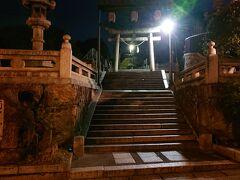 夜明けの《阿智神社》。