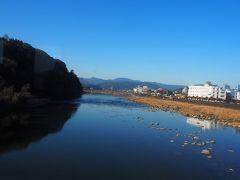 まずは球磨川を渡ります。いやあ、澄んだ空、透き通った川。