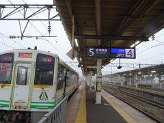 8時40分。会津若松駅に着いたヨ!