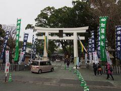 加藤神社へ。かの有名な加藤清正公を祀っております。