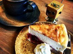 法隆寺の近くにある 「cafeこもど」さんにて 豆乳のチーズケーキセットをいただきました^^  とっても美味しかった^o^  店内もおしゃれでしたよ