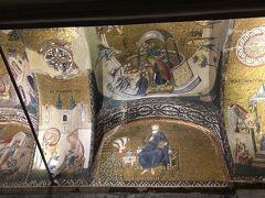 続いての目的地『カーリエ博物館』に到着です。  ここもアヤソフィアと同じように元来ビザンツ時代に教会であった施設で、キリスト教由来のモザイク画が多数残っています。