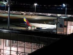 これから乗るアシアナ航空のA321。 展望デッキから撮影しました。