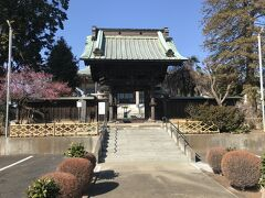 落合川を渡りすぐに武蔵野三十三観音5番札所多聞寺に到着。上石神井駅からおよそ7,6Km歩いてきました。