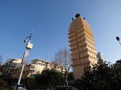 金碧広場から南下して東西寺塔へ。