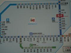 ●近距離切符案内板@JR高月駅  この画像のど真ん中が琵琶湖になります。 ランチを求めて南下します。