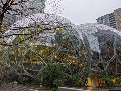 これはamazonの「ザ・スフィアズ」という施設。 中にも入れるみたいだけど、外観を見るだけ。 シアトルはamazon本社があるので、アチコチにamazon関連の建物があります。