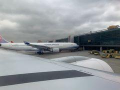 ほぼ定刻に台北松山空港に到着しました。