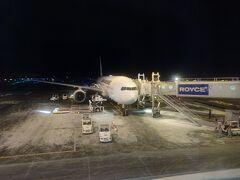 羽田から1時間半ほどで新千歳空港に到着。 思っていたより雪はありませんでしたが、外は寒そうです。
