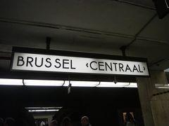 アーヘンから約2時間、ブリュッセル中央駅到着。 チケットに書かれた到着予定時刻14:59ぴったんこです。すんばらしい。