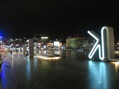 基隆海洋廣場。  夜景もなかなか良いです。