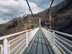 脚をカクカク言わせながらも ここまで来たら上野スカイブリッジを 渡らないわけには いきません!!!  高さ90m 長さ225mの吊り橋で~す