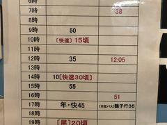 銀山温泉から大石田行最終バスは20分以上遅れて出発 なお、満員で断られたお客さんも10人程度。 乗れない場合は自分たちでタクシーを呼ぶ等になります。 詳しくは口コミに。 写真は大石田駅に貼られていた時刻表。 WEBサイトもこのように2路線をまとめて記載されているといいのですが。