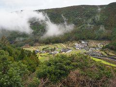 日本棚田百選に数えられる『清水の棚田』 ここから俯瞰して眺められるんだ。 嬉しい発見。