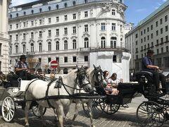 ミヒャエル広場。白馬も気品があります。