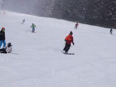 ミネロエリアのメインコース やや重い雪