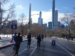 ニユーヨークハーフマラソンが開催されていた 3マイル地点
