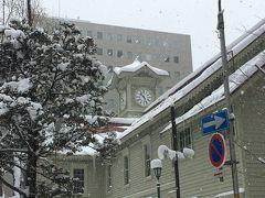 早朝に札幌に到着したのでホテル回りを散策。いい感じで雪が降っていました。