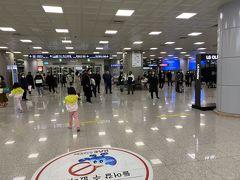 21時に降機。 イミグレとバゲージクレームを通過して7分後にはランドサイドに。 釜山は空港が小さいから早いです。