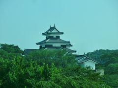 ズームしてみましょう。  1340年に築城された「小峰城」です。 日本100名城の1つに含まれており、国の史跡にも指定されています。