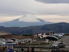 大涌谷観光センターから富士山がよく見えた
