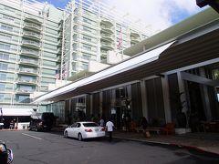 タクシーでカハラホテルへ 道中ソニーオープン(ゴルフ)チラ見出来ました