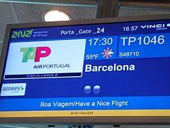 リスボン空港から一路バルセロナへ。