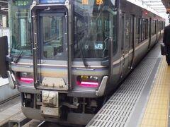 福知山から園部までの移動で利用した快速列車。 快速と言いながら、結構停車する。