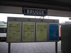 ブリュッセルから一時間でブルージュ到着。  ちなみに「ブルージュ」はあくまで英語読みで、ここに書かれているBRUGGEはオランダ語で読み方は「ブルッヘ」。フランス語読みだと「ブリュージュ」になるとの事。