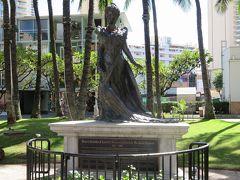 プリンセス・カイウラニ像(Princess Ka`iulani Statue)  カラカウア王の姪で肺炎のため23歳という若さで死去 1875年ー1899年
