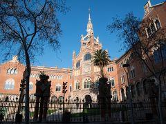 サンパウ病院。 1997年にカタルーニャ音楽堂とともにユネスコの世界遺産に登録された後も2009年まで実際に診療がおこなわれていたガウディのライバルと言われているモンタネール設計の公立病院。