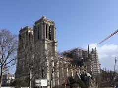サントシャペル教会から歩いて、ノートルダム大聖堂の近くでお昼ごはん。再建中のノートルダム大聖堂は、想像以上の存在感。修復後、また訪れたいと思う人が多いのも納得。