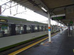 預けていた荷物を引き取り、 午後1時8分に会津若松駅を出発。