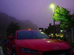 AM5:30  東海環状自動車道 美濃加茂SA  霧が凄くて一休み・・・